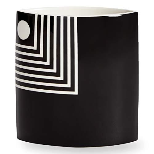 (Now House by Jonathan Adler Small Mod Lines Vase, Black and White)