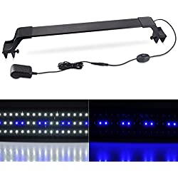 Xcellent Global 36 SMD LEDs Aquarium Light Extendable Brackets White Blue LEDs Fit Tank Size from 22 to 30 inch