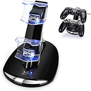 Best Epic Trends 41JNFDhQosL._SS300_ PS4 Controller Charger, Y Team Playstation 4 / PS4 / PS4 Pro / PS4 Slim Controller Charger Charging Docking Station…