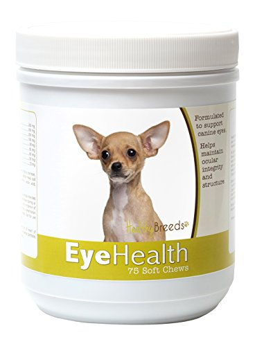 - Healthy Breeds – Dog Eye Care Support for Chihuahua – Over 80 Breeds – Soft Chew Supplement – 75 Count