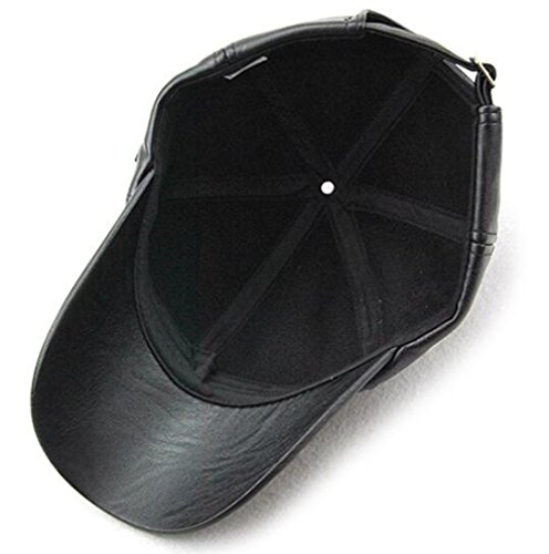 43c93edaae1 GESDY Men's Vintage Adjustable PU Leather Baseball Cap Outdoor ...