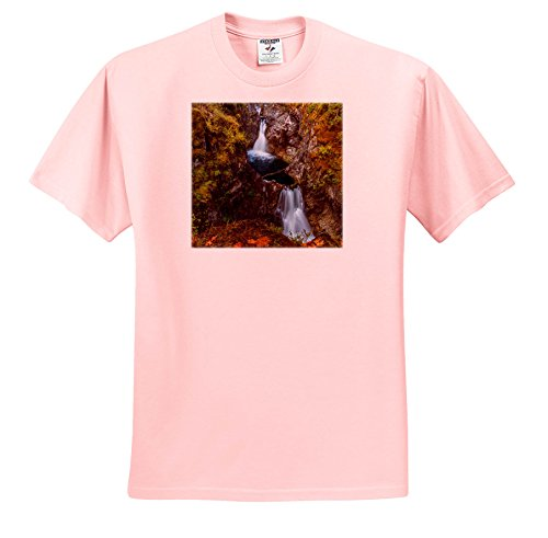 3dRose Danita Delimont - Waterfalls - Autumn In Little Qualicum Falls Provincial Park, B.C, Canada - T-Shirts - Youth Light-Pink-T-Shirt Small(6-8) (TS_277204_44) (Provincial Light 8)