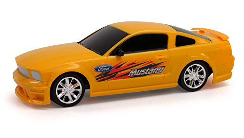JC Toys Ford Mustang Mean Remote Control Car, Yellow