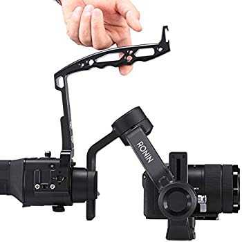 Yifant 3-Axis Handheld Gimbal Stabilizer Portable with 1//4 and 3//8 Screw Hole and Cold Shoe Bracket Standard Shoe Type Easy Installation for MOZA AIR2 Extension Hand Grip Accessory