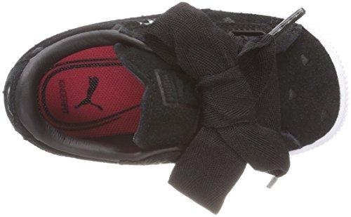 Inf Sneakers Black Fille Puma Valentine Noir Puma puma Black Suede Heart Basses nzxYpYItr