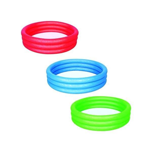 Bestway 51026 - Piscina gonfiabile a 3 anelli, ca. 152 x 30 cm, Colori assortiti 1 spesavip