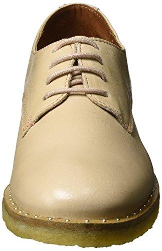 Flat Zapatos de Velvet Nude Hueso Derby Laze Biz Mujer para Shoe Cordones Shoe B5qOUfnw