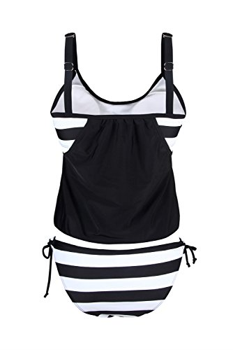 EVALESS-Womens-Strips-Sporty-Double-Up-Tankini