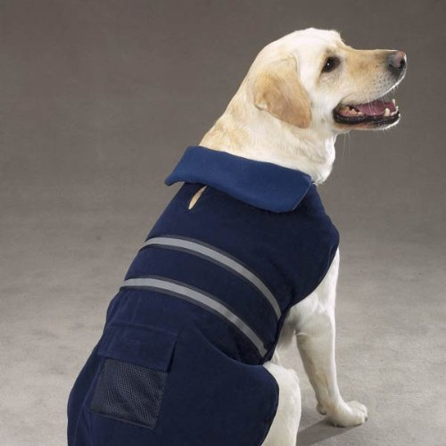 Picture of Casual Canine Fleece-Lined Reflective Dog Jacket for Safety, Blue, XXL