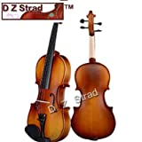 D Z Strad Violin Model 100 with Solid Wood Size 1/8 with Case, Bow, and Rosin (1/8-Size)