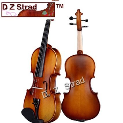 D Z Strad Violin Model 100 with Solid Wood Full Size 4/4 with Case, Bow, and Rosin (4/4 - Size) by D Z Strad