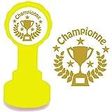 Tampon Encreur Automatique Pour Enseignant, Championne, Encre Gold. Trophée du Design.