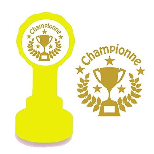 Championne Encre Gold Troph/ée du Design. Tampon Encreur Automatique Pour Enseignant