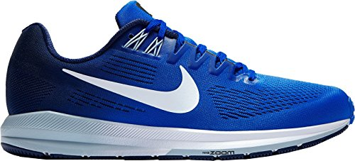 Nike Herren Air Zoom Structure 21 Laufschuhe, Multicolore (Pure Platinum/Anthracite-Cool Grey 005, 42_EU Blau / Marineblau / Weiß