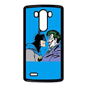 LG G3 Cell Phone Case Black Batman vs Joker Blue Background VIU172191