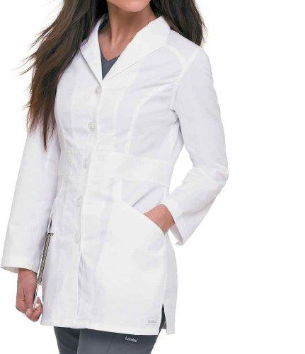 Landau Smart Stretch Women's Wing Lapel 31&Frac12; Lab Coat Medium White (Cotton Coat Nursing)