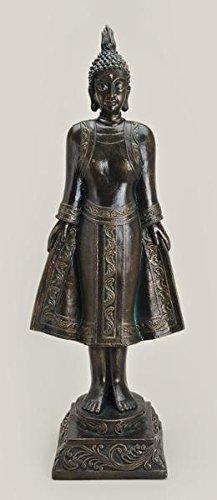 Buddha Deko Statue Buddha Figur Antik Bronze XXL 91 cm
