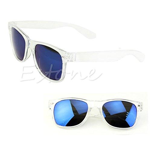 Lamdoo 1 Transparent 9cm rétro Blue White classique Black soleil Frame Frame 4 de Shades 93
