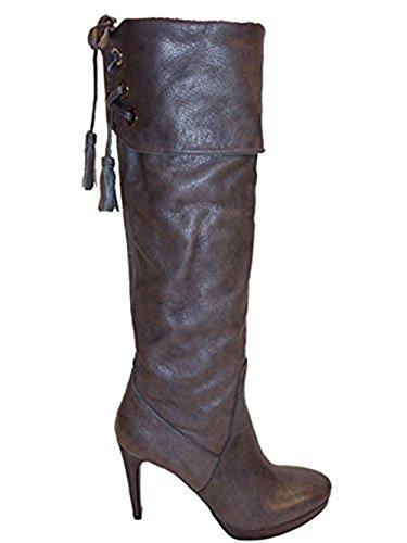The Seller Damen Stiefel Glattleder S1041N carbon Grau