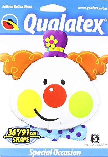 """Qualatex Foil Balloon 049403 Cute Clown, 36"""", Multicolor"""