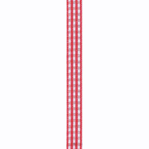 Berwick 3/8-Inch Wide by 250-Yard Spool Gingham Printed Curling Craft Ribbon, Red - Gingham Ribbon