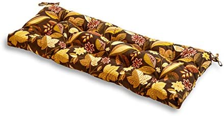 Greendale Home Fashions AZ5812-TIMBFLORAL Russet Floral 51-inch Outdoor Bench Cushion
