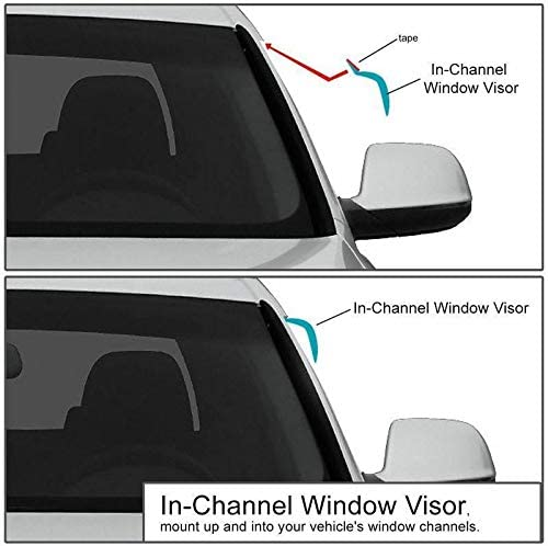 2000 2001 2002 2003 2004 2005 2006 2007 2008 2009 2010 2011 2012 2013 2014 Acrylic Glass Side Visors Mrp Set Of 2 Wind Deflectors IN-CHANNEL Type Compatible with FORD TRANSIT Window Deflectors