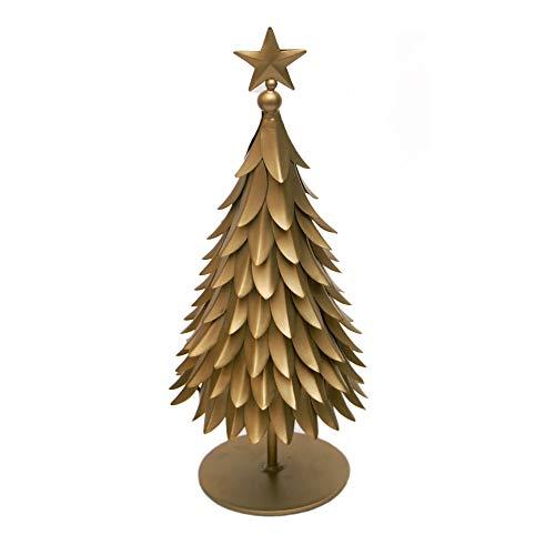 Esca di Luce Metal Tabletop Christmas Tree Figurine - Christmas Decor for Home, Indoor, Outdoor, Christmas Decorations, Seasonal Holiday Decor (Gold, Medium) from Esca di Luce