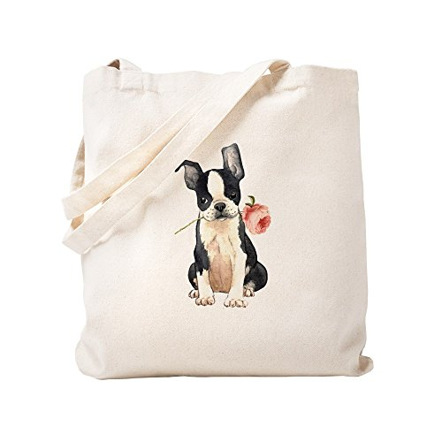 rier Rose Natural Canvas Tote Bag, Cloth Shopping Bag ()