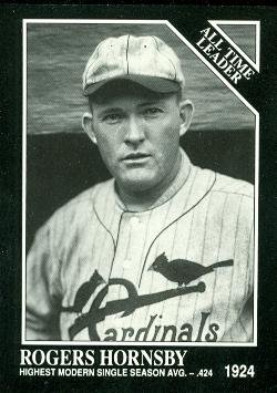 Rogers Hornsby Baseball Card (St. Louis Cardinals) 1991 Sporting News Conlon Collection #251 - Conlon Collection