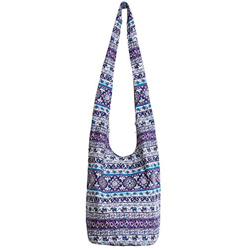 (Ethnic Style Bag Lady's Everyday Crossbody Shoulder Bags Women Tourist Cotton Fabric Bag)