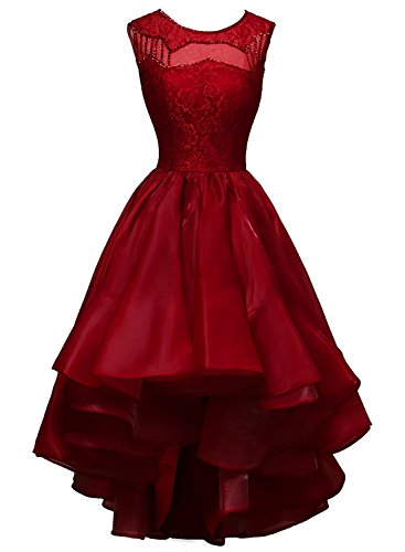 Party High Organza Dora Women amp;Acute;s Prom Fuchsia Low Bridal Dresses Beaded qt8tU