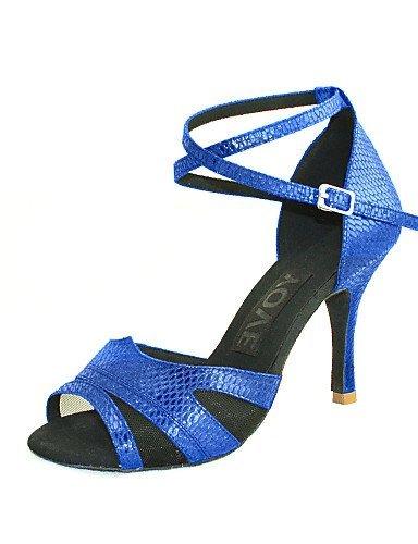 ShangYi Anpassbar - Maßgefertigter Absatz - Kunstleder - Latin/Salsa - Damen Blue