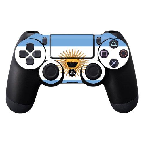 Vinilo protector Vinilo Skin Compatible con Sony Playstation DualShock 4 Controller wrap Sticker Skins Argentina Flag