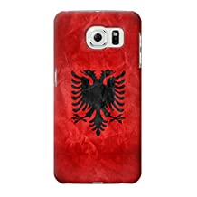 R2982 Albania Football Soccer Red Flag Case Cover For Samsung Galaxy S6 Edge Plus
