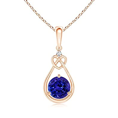 Angara Natural Ruby Solitaire Necklace in 14k White Gold LluOZ2dfnv