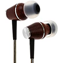 Symphonized XTC 2.0 Premium Genuine Wood In-ear Noise-isolating Headphones Earbuds Earphones with Innovative Shield Technology Cable and Mic (Gunmetal)