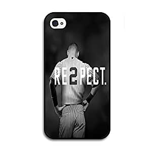 Black iPhone 4/4s Case - Derek Jeter RE2PECT Respect New York Yankees