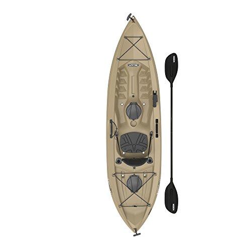 Lifetime Muskie Angler Sit-On-Top Kayak with Paddle, Tan, (Angler 100 Kayak)