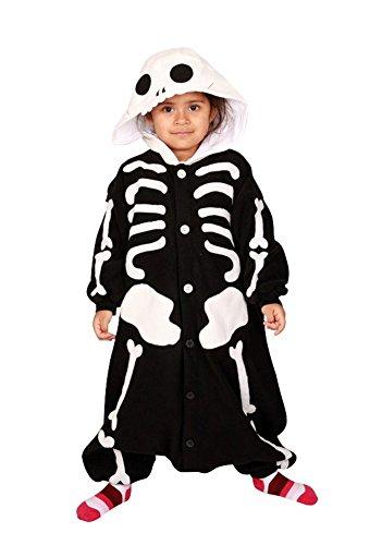 Skeleton Kids Kigurumi (2-5 Years) (The Today Show Halloween Costumes)