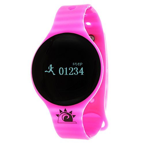Zunammy Women's 'Activity Tracker with Call and Message Reminders' Digital LED and Rubber Watch, Color:Pink (Model: NWTR022PK)