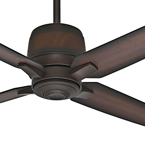 Casablanca Fan 54 inch Brushed Cocoa Finish Contemporary Ceiling Fan with 4 Burnished Mahogany Blades (Renewed) ()