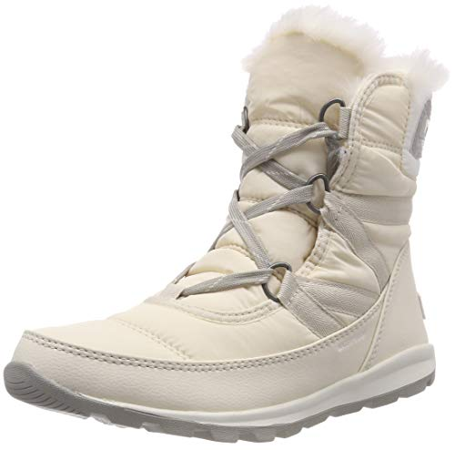 Sorel Women's Whitney Short Lace Snow Boot, Fawn, sea Salt, 8.5 M US