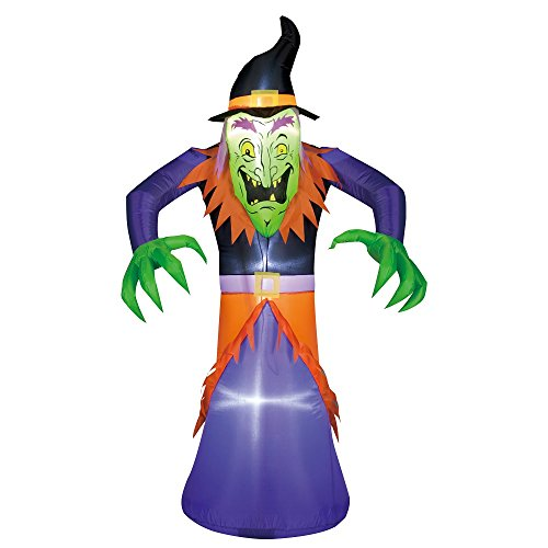 [HALLOWEEN INFLATABLE 5 1/2' WITCH AIRBLOWN YARD DECORATION] (Halloween Yard)