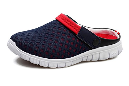 Unisex Sandals Garden Drying 45 Womens Clogs Lightweight Mens Blue Quick Slippers Walking Red Comfortable Shoes 36 Beeagle xAnRn