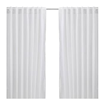 Amazon.com: Ikea Thin Curtains, 1 Pair, White: Home & Kitchen