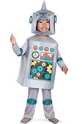 Disguise Artsy Heartsy Retro Robot Costume, Silver/Red/Blue/Yellow,