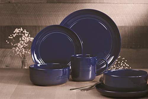 Safdie & Co. Dinnerset Premium Dinnerware Set, 16Pcs, Navy