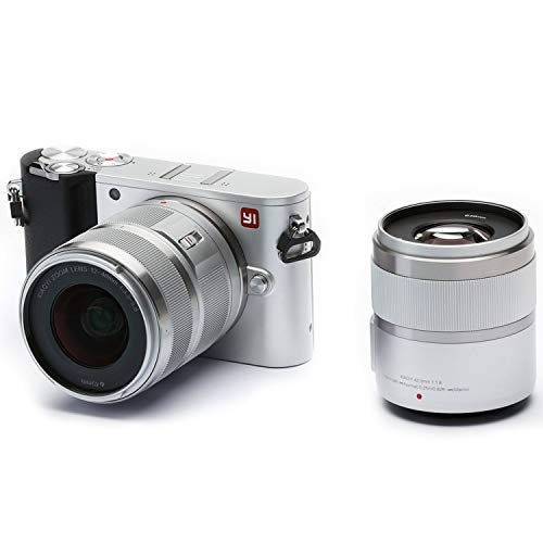 YI 4K 20MP Mirrorless Digital Camera with LCD Touchscreen, Wi-Fi, Bluetooth, Interchangeable Lens 12-40mm F3.5-5.6 Lens & 42.5mm F1.8 - -