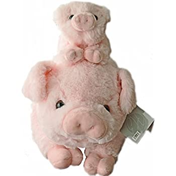 Exceptional Home Pigs Plush Stuffed Animals Set. 18 inch Pig with Baby Piglet. Kids Toys Gift Pig Animal Stuff